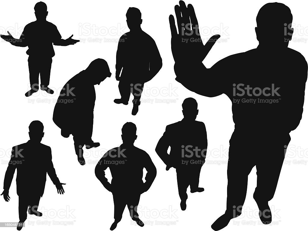 Businessman From Above Series royalty-free businessman from above series stock vector art & more images of adult