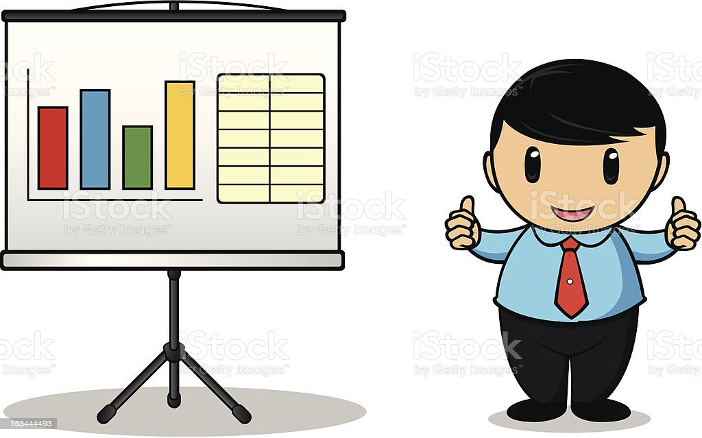 Businessman Gesturing Thumbs Up royalty-free stock vector art