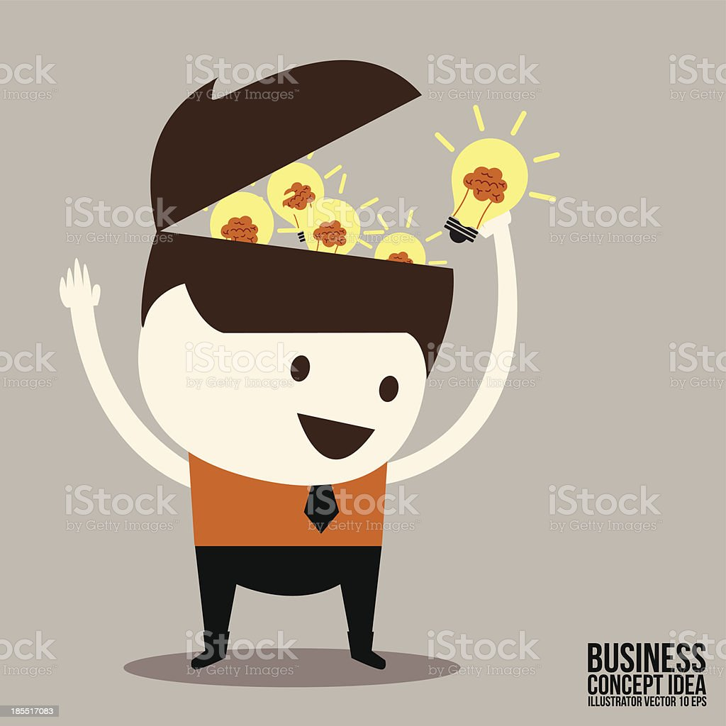 Businessman get idea royalty-free businessman get idea stock vector art & more images of abstract