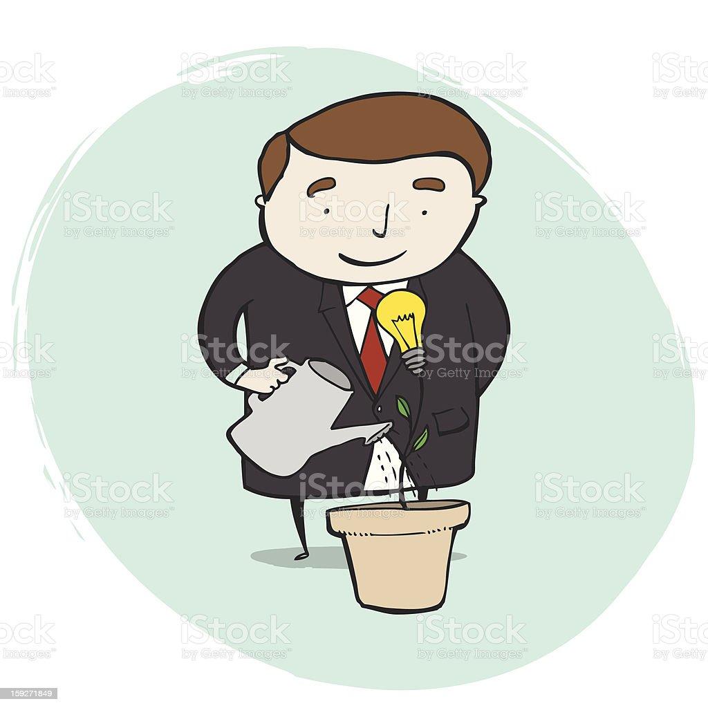 Businessman Got A Good Idea royalty-free businessman got a good idea stock vector art & more images of adult