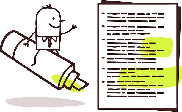 geschäftsmann & grüne markierung - filzarbeiten stock-grafiken, -clipart, -cartoons und -symbole