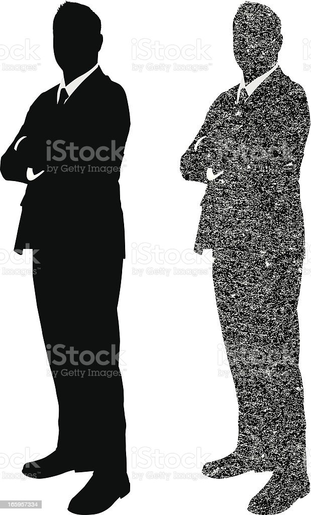 Businessman grunge style silhouette royalty-free businessman grunge style silhouette stock vector art & more images of adult
