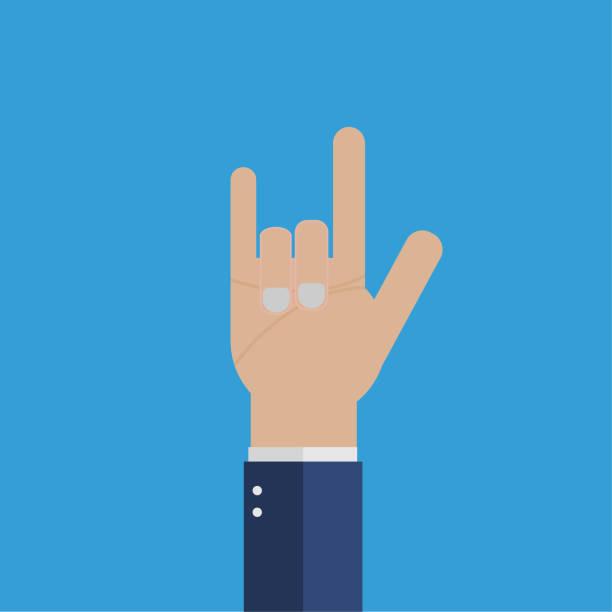 Geschäftsmann Handzeichen, dass ich dich liebe – Vektorgrafik