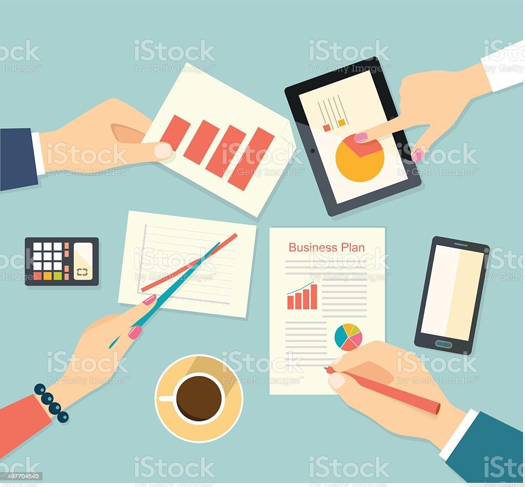 Businessman hands . Vector flat illustration vector art illustration