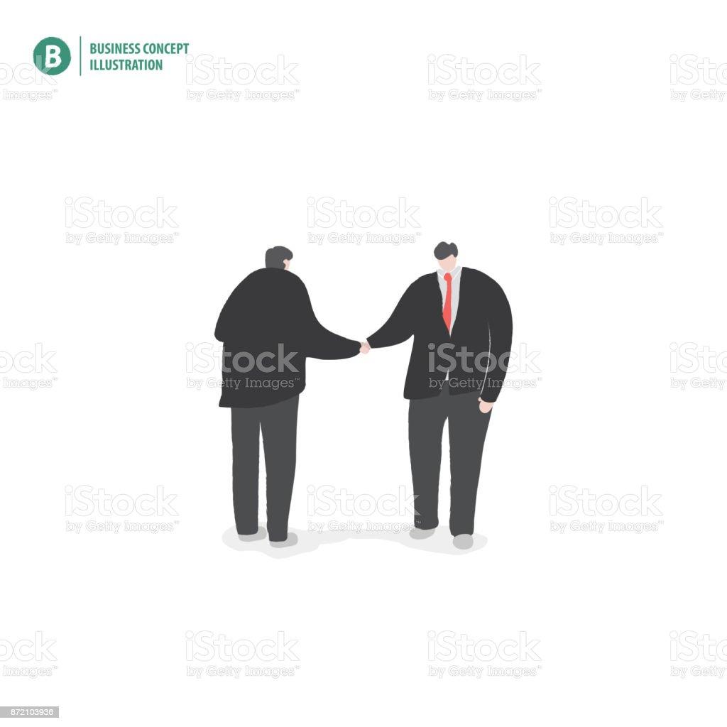 Geschäftsmann Handshake Bedeutung Vertrag Oder Joint Venture Oder