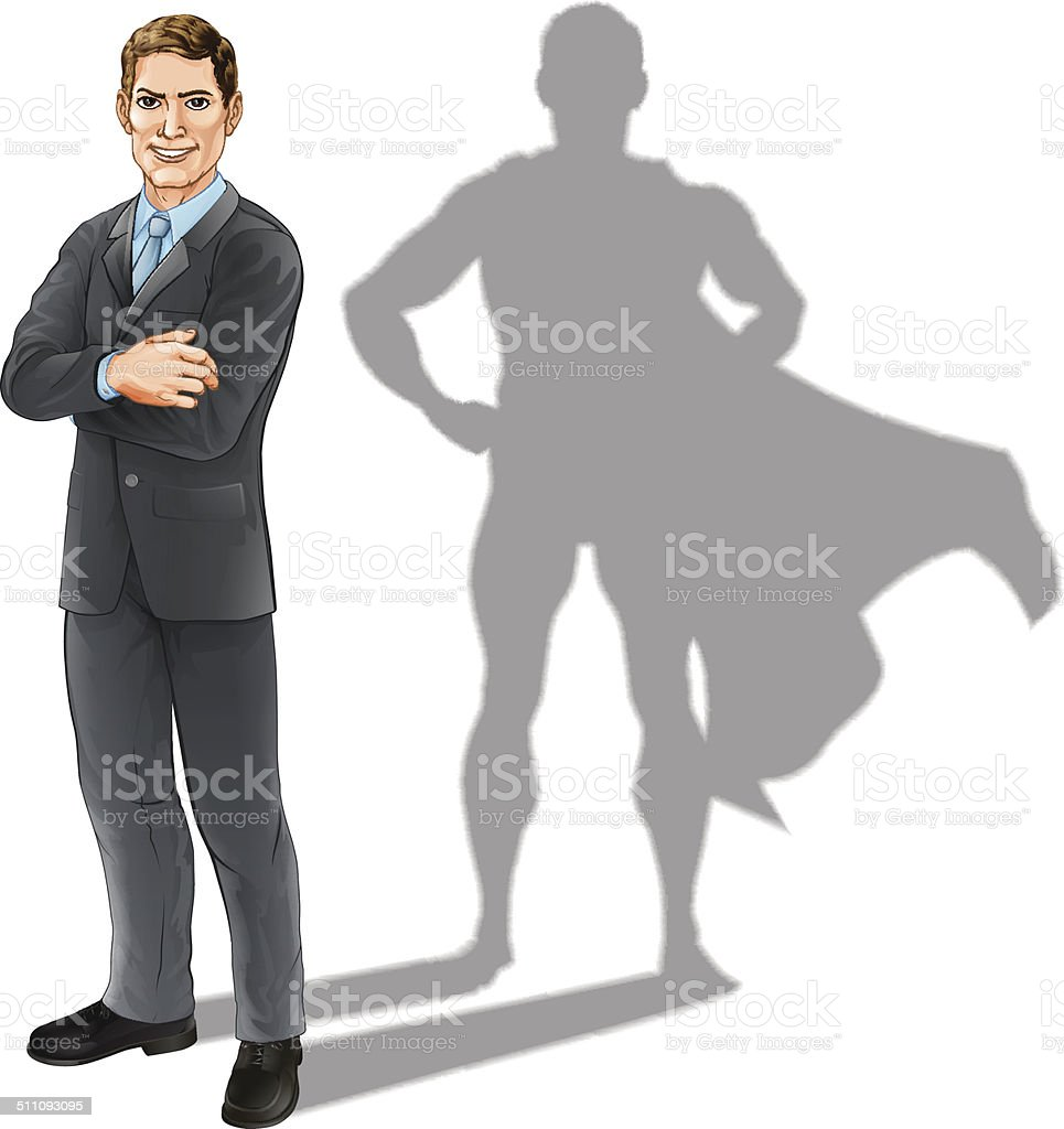 Businessman Hero vector art illustration