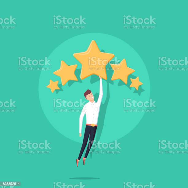 Businessman holding five gold stars for rating quality and business vector id893852514?b=1&k=6&m=893852514&s=612x612&h=uzbge7gwl8iuc bqe 7o az4nx7ulofqypy1fztz7zw=