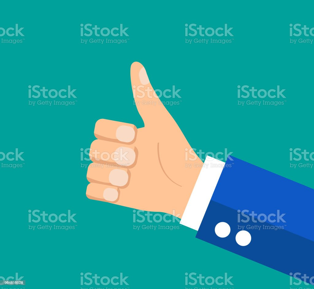businessman holding hes thumb up royalty-free businessman holding hes thumb up stock vector art & more images of adult