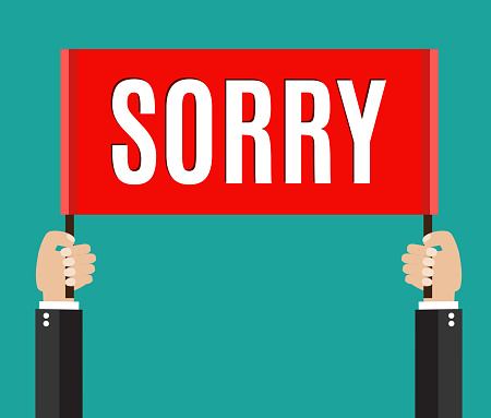 Businessman Holding Sorry Sign Stock Illustration - Download Image Now