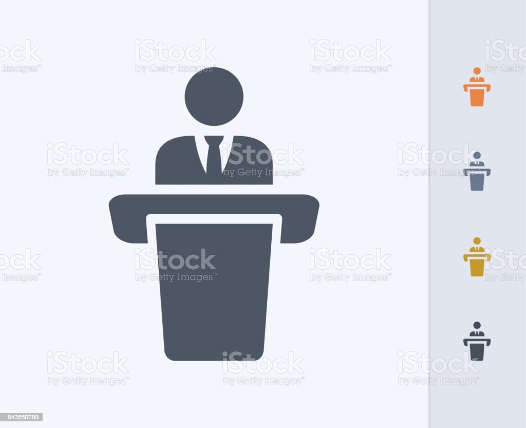 Businessman Holding Speech - Carbon Icons