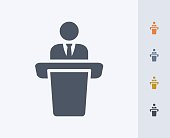Businessman Holding Speech - Carbon Icons