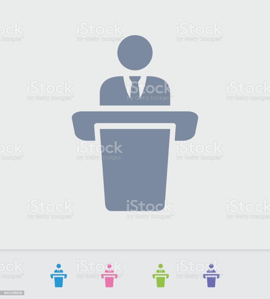 Businessman Holding Speech - Granite Icons