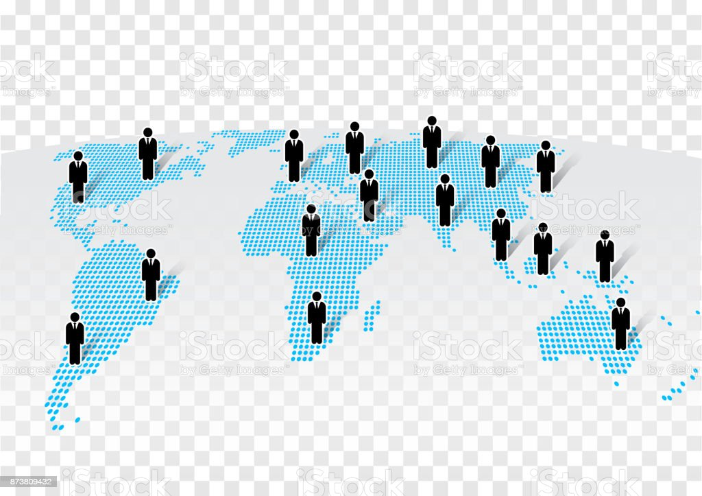 Businessman icon standing on modern world map on transparency businessman icon standing on modern world map on transparency background royalty free businessman icon standing gumiabroncs Image collections