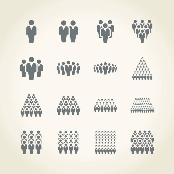 Businessman icons vector art illustration