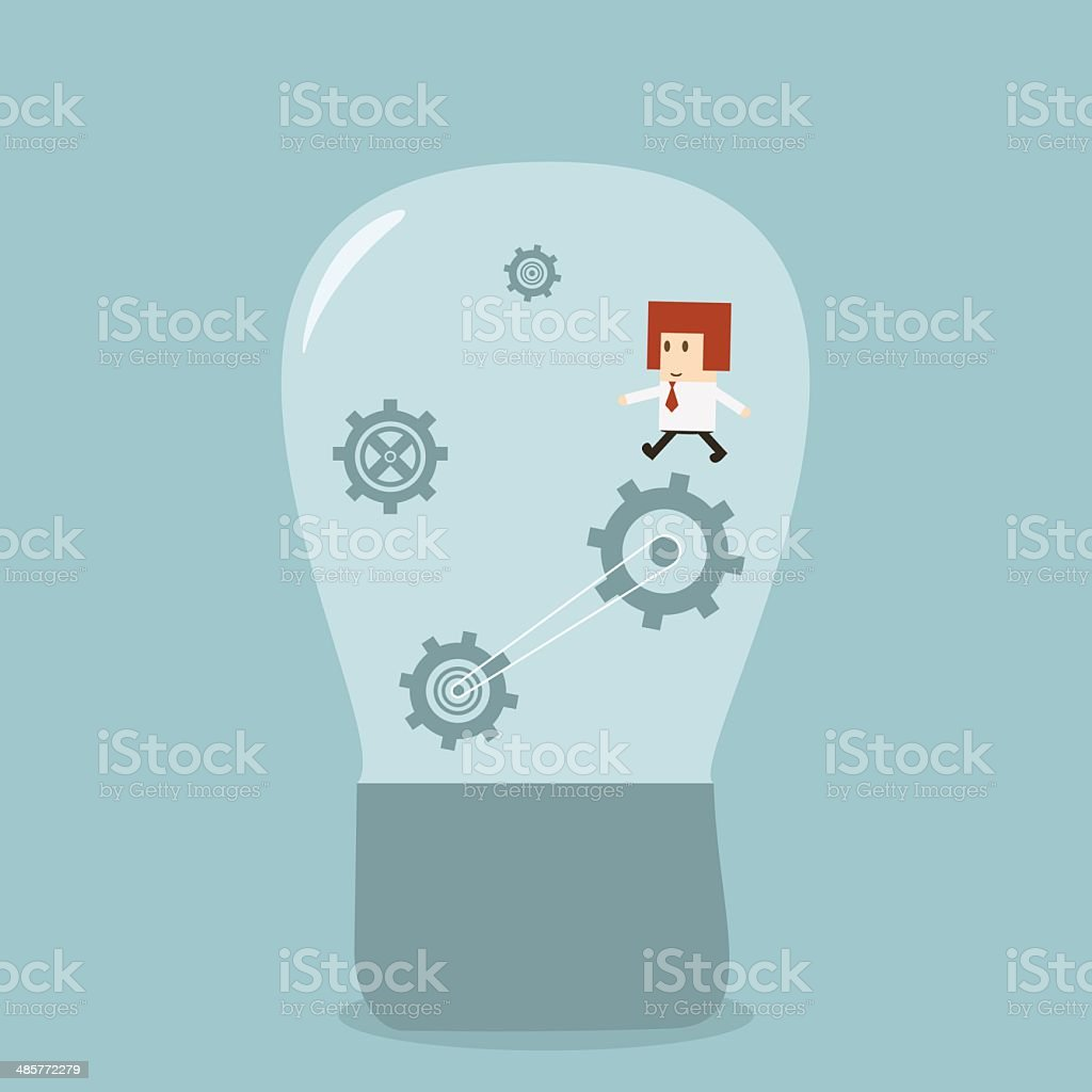 Businessman idea royalty-free businessman idea stock vector art & more images of abstract