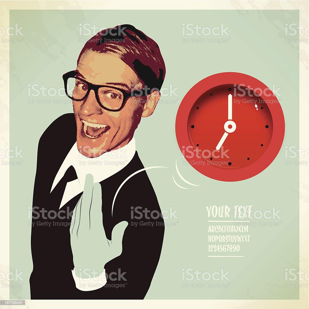 Geschäftsmann ignorieren Zeit – Vektorgrafik