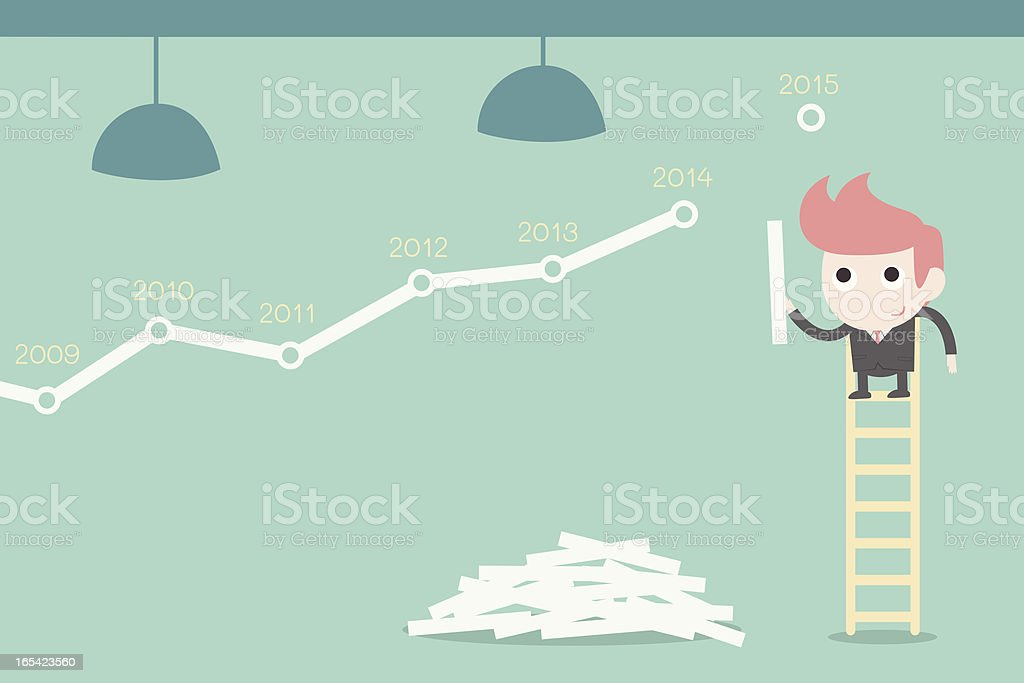 businessman improving stock chart royalty-free businessman improving stock chart stock vector art & more images of 2013