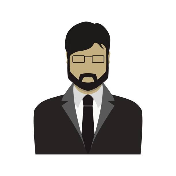 stockillustraties, clipart, cartoons en iconen met zakenman in een pak plat ontwerp - dubbelopname businessman