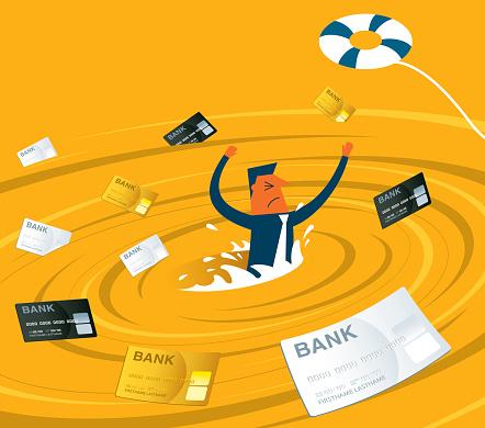 Debt stock illustrations