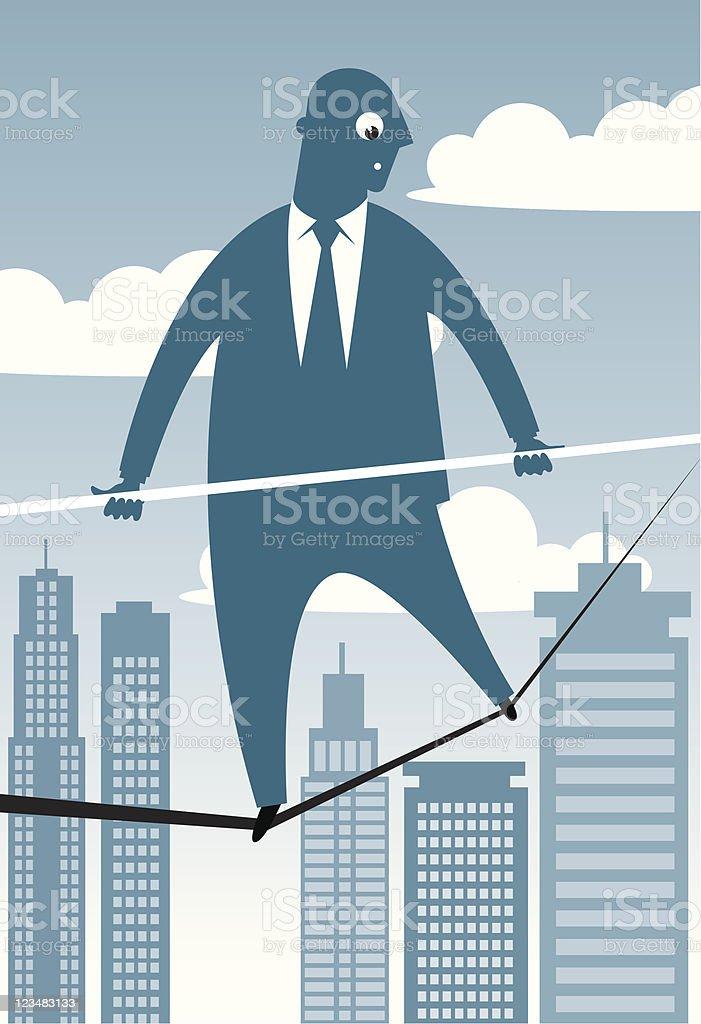 Businessman In Danger royalty-free stock vector art