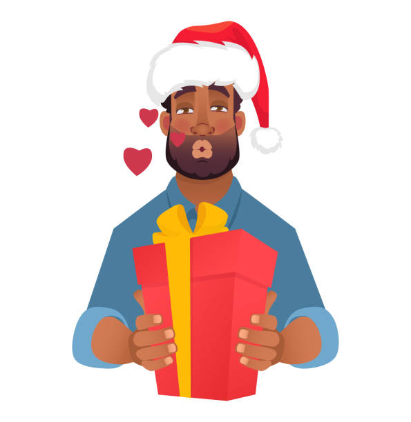 Best African American Santa Illustrations, Royalty-Free ...