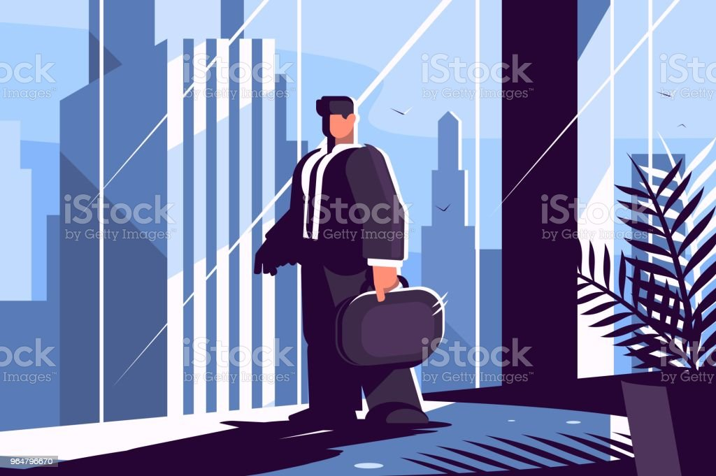 Businessman in suit with briefcase royalty-free businessman in suit with briefcase stock vector art & more images of adult