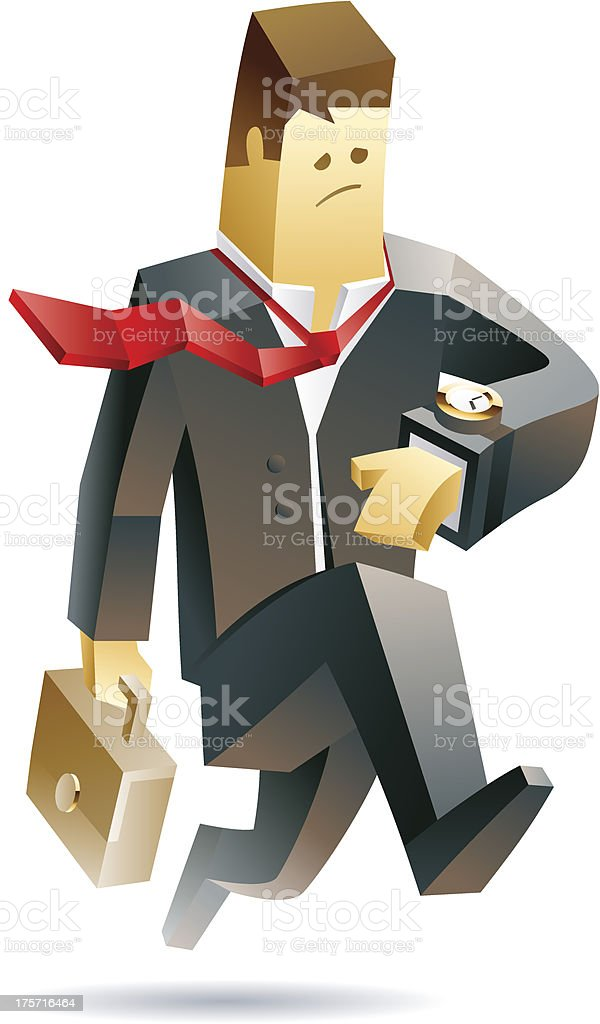 Businessman in trouble royalty-free stock vector art