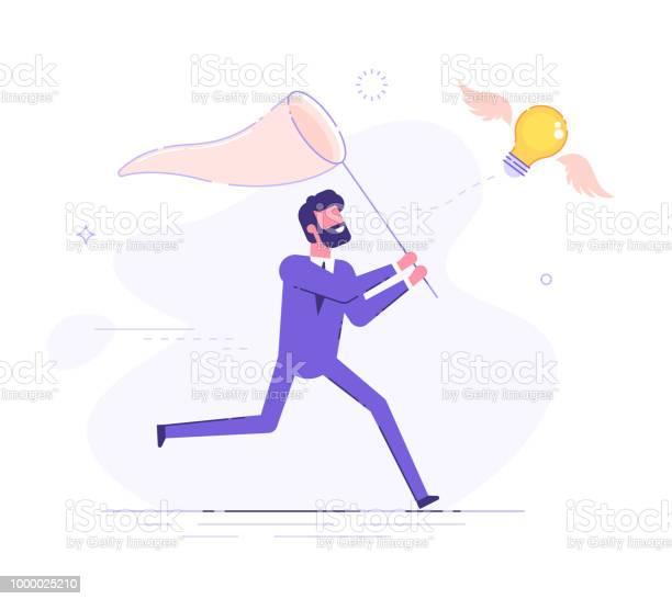 Businessman is trying to catch flying light bulb with a scoopnet for vector id1000025210?b=1&k=6&m=1000025210&s=612x612&h=q2furro3i9 tgdxlyk6pauvetoaf vmrjxxlqk4yljq=