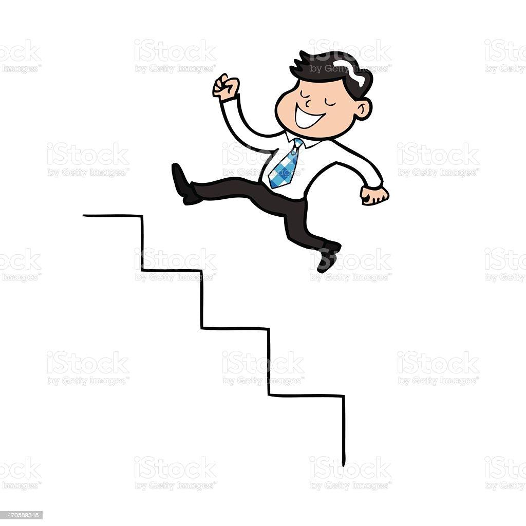 Monter les escaliers en dessin anim homme daffaires de for Chaise qui monte les escaliers