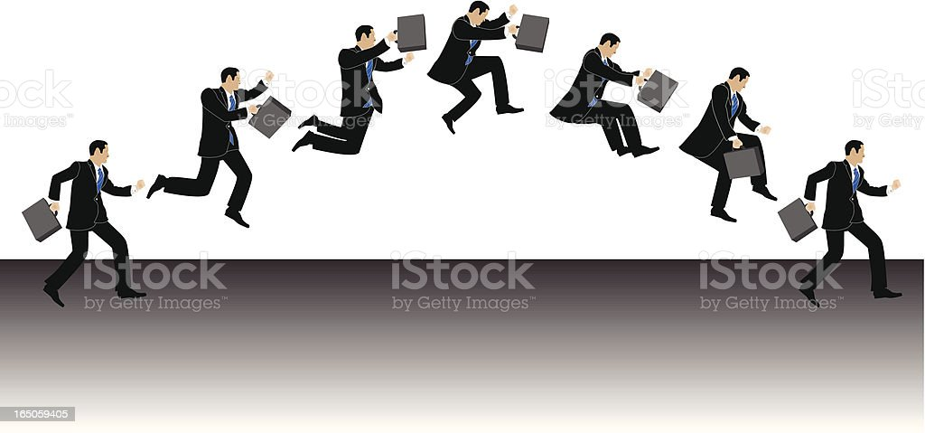Businessman Jumping royalty-free stock vector art