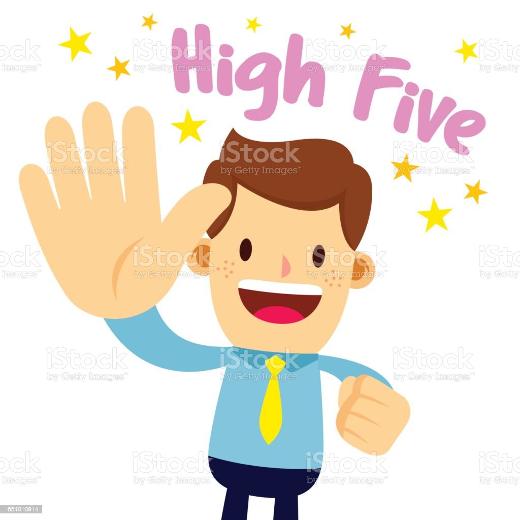 businessman lifting his palm saying high five stock vector art rh istockphoto com high five clipart pink high five clipart pink