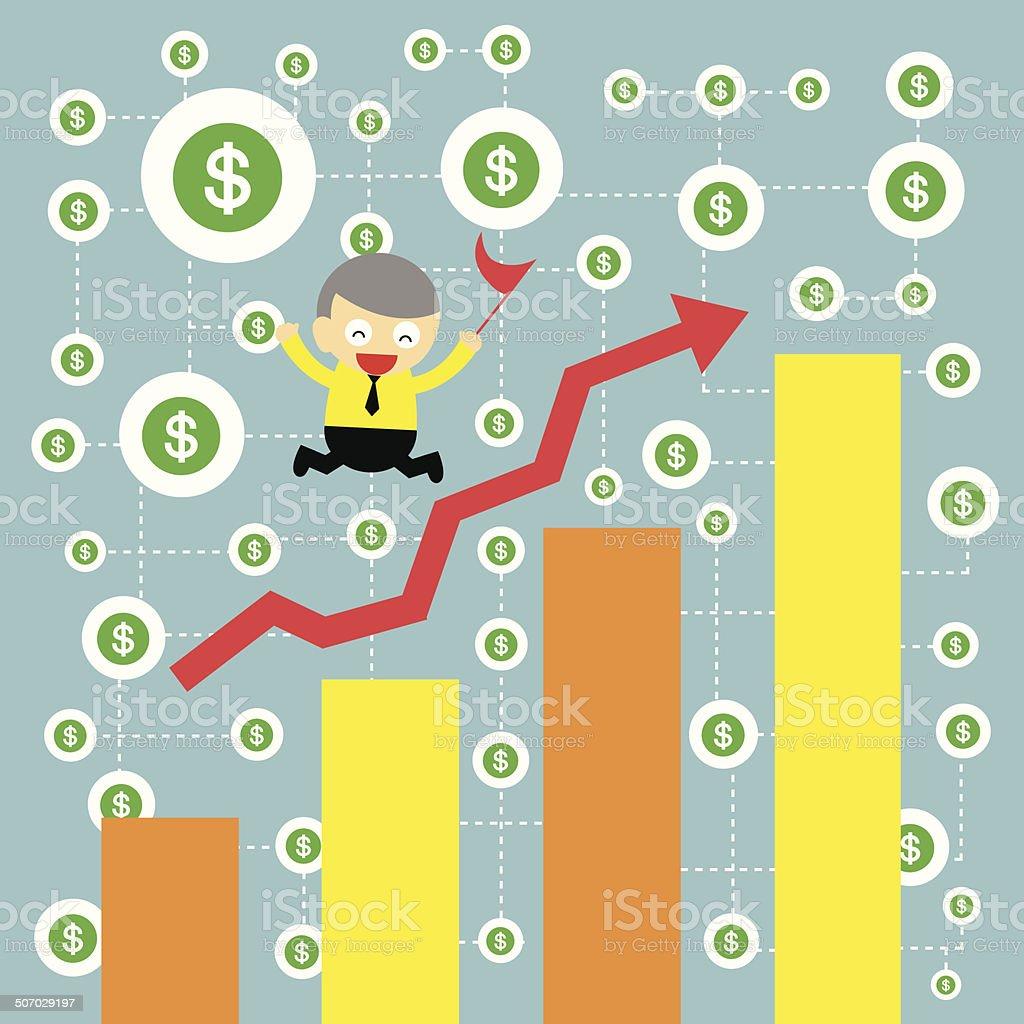 businessman making money royalty-free stock vector art