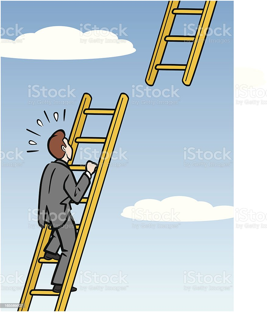 businessman moving up career ladder royalty free businessman moving up career ladder stock vector art