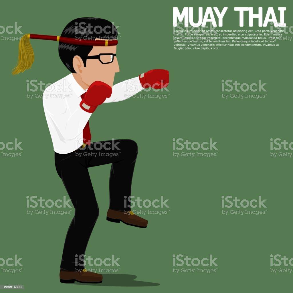 Businessman Muay Thai
