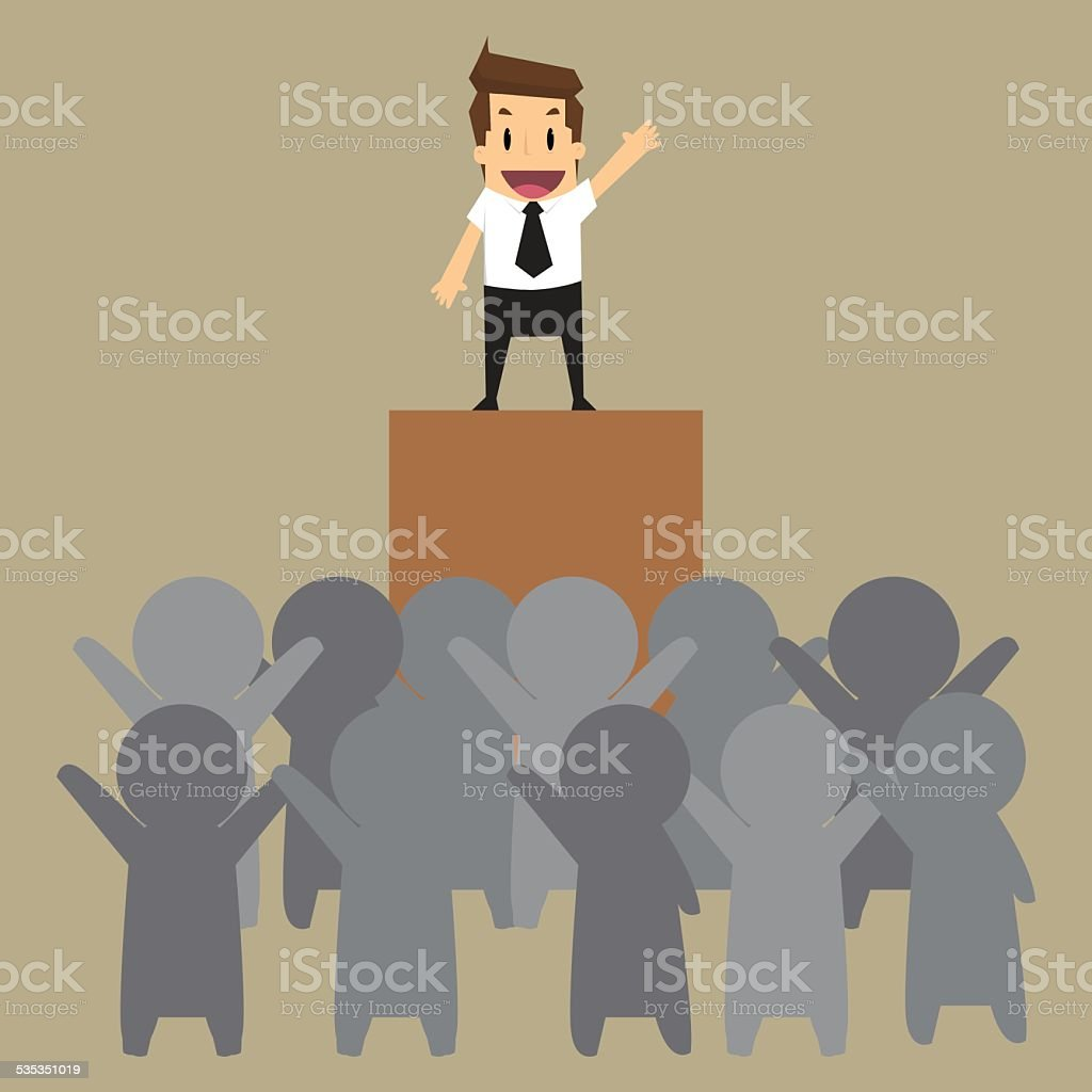 businessman of leader vector art illustration