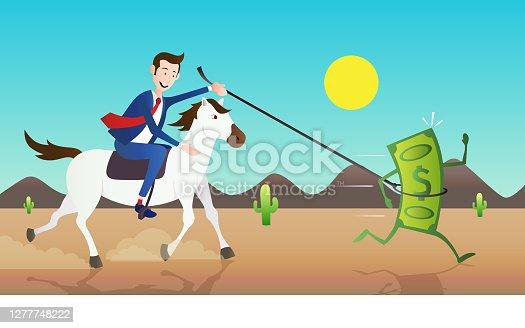 istock Businessman on Horse 1277748222
