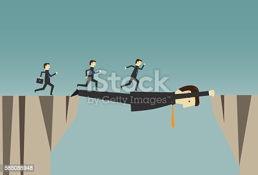 istock Businessman over stretched 585088948