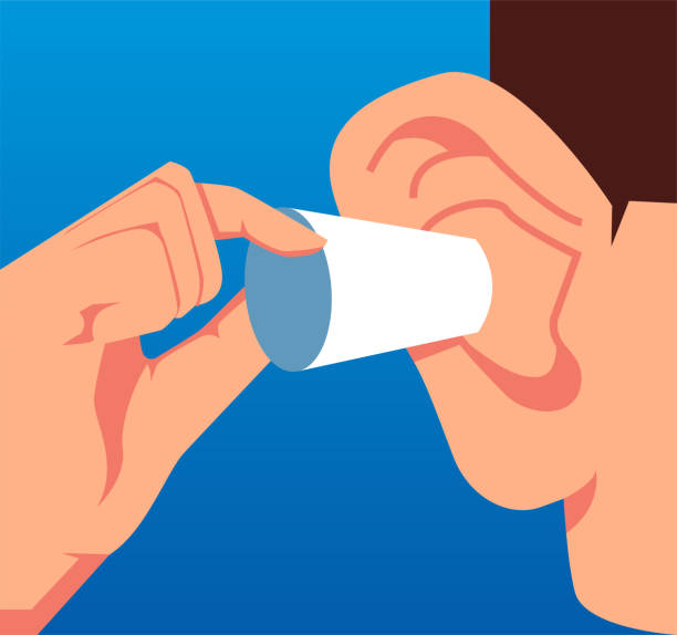 Businessman plugged his ears Businessman plugged his ears hands covering ears stock illustrations