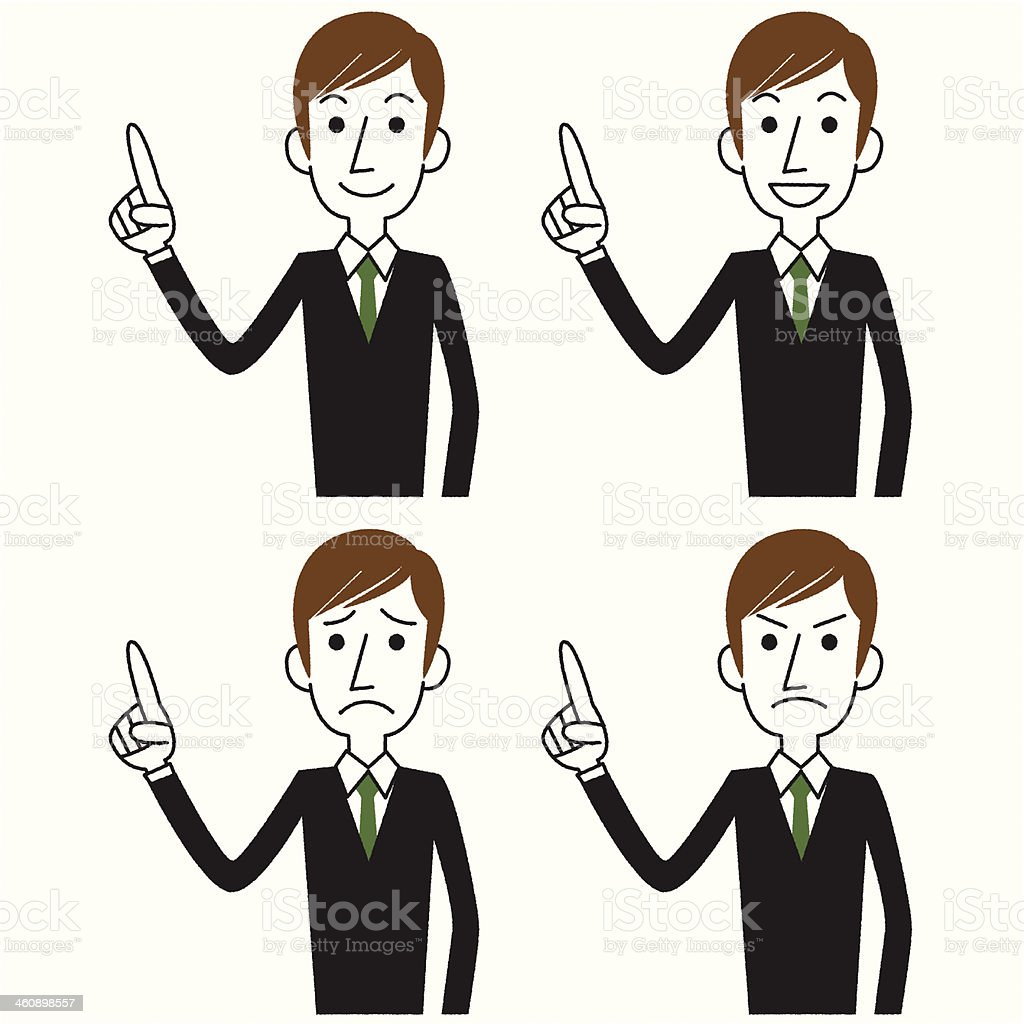 Businessman Pointing royalty-free stock vector art