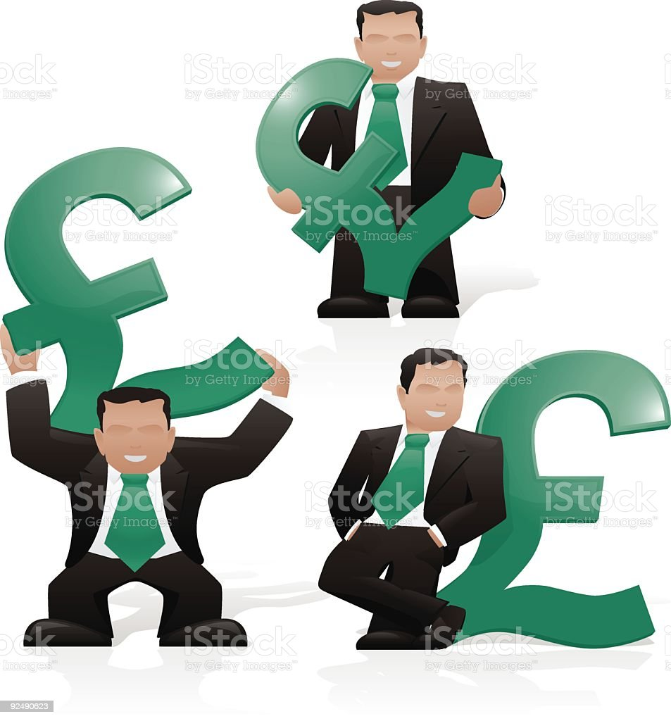 Businessman & Pound royalty-free businessman pound stock vector art & more images of adult