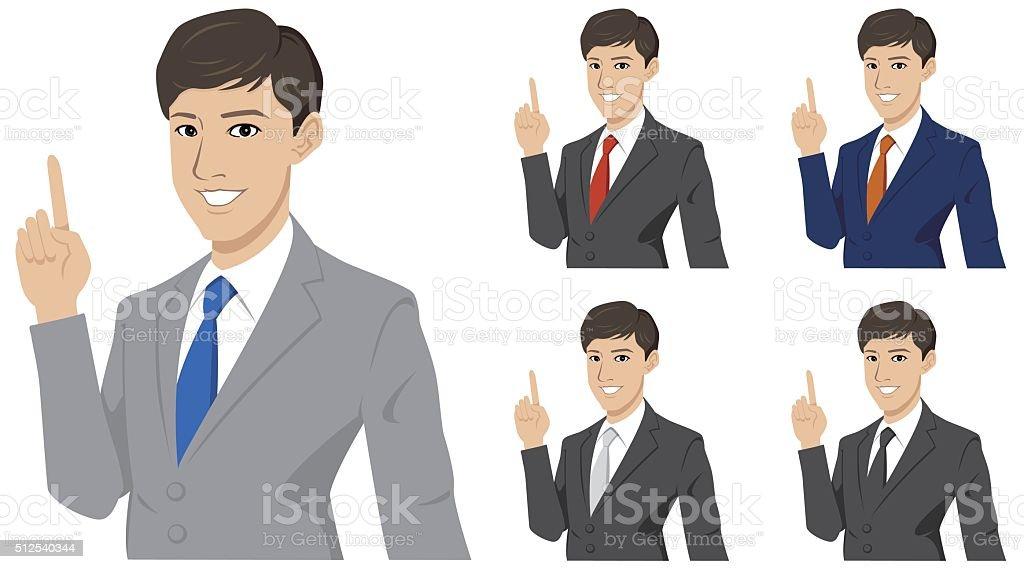 businessman presenting.getting idea. Vector illustration vector art illustration