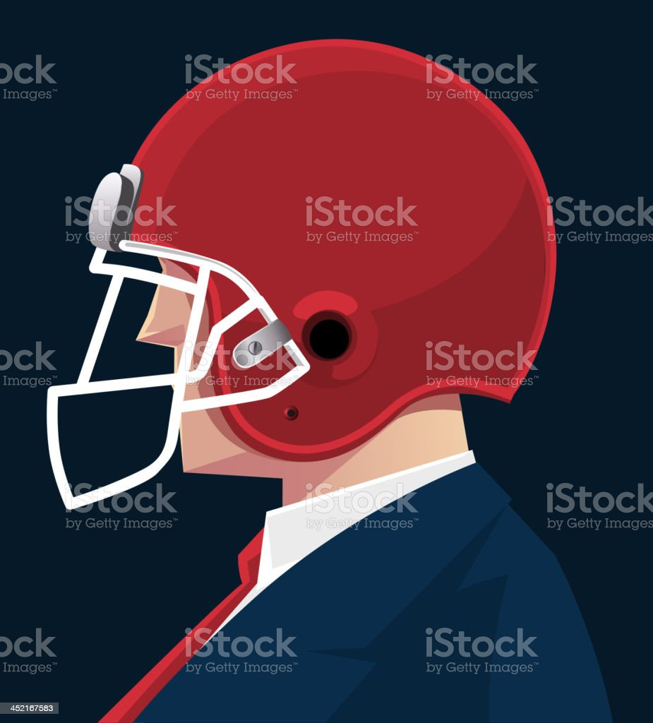 Businessman protective helmet royalty-free stock vector art