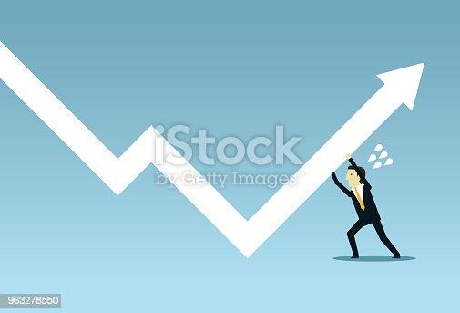 Businessman, Chart, Graph, Occupation, Working