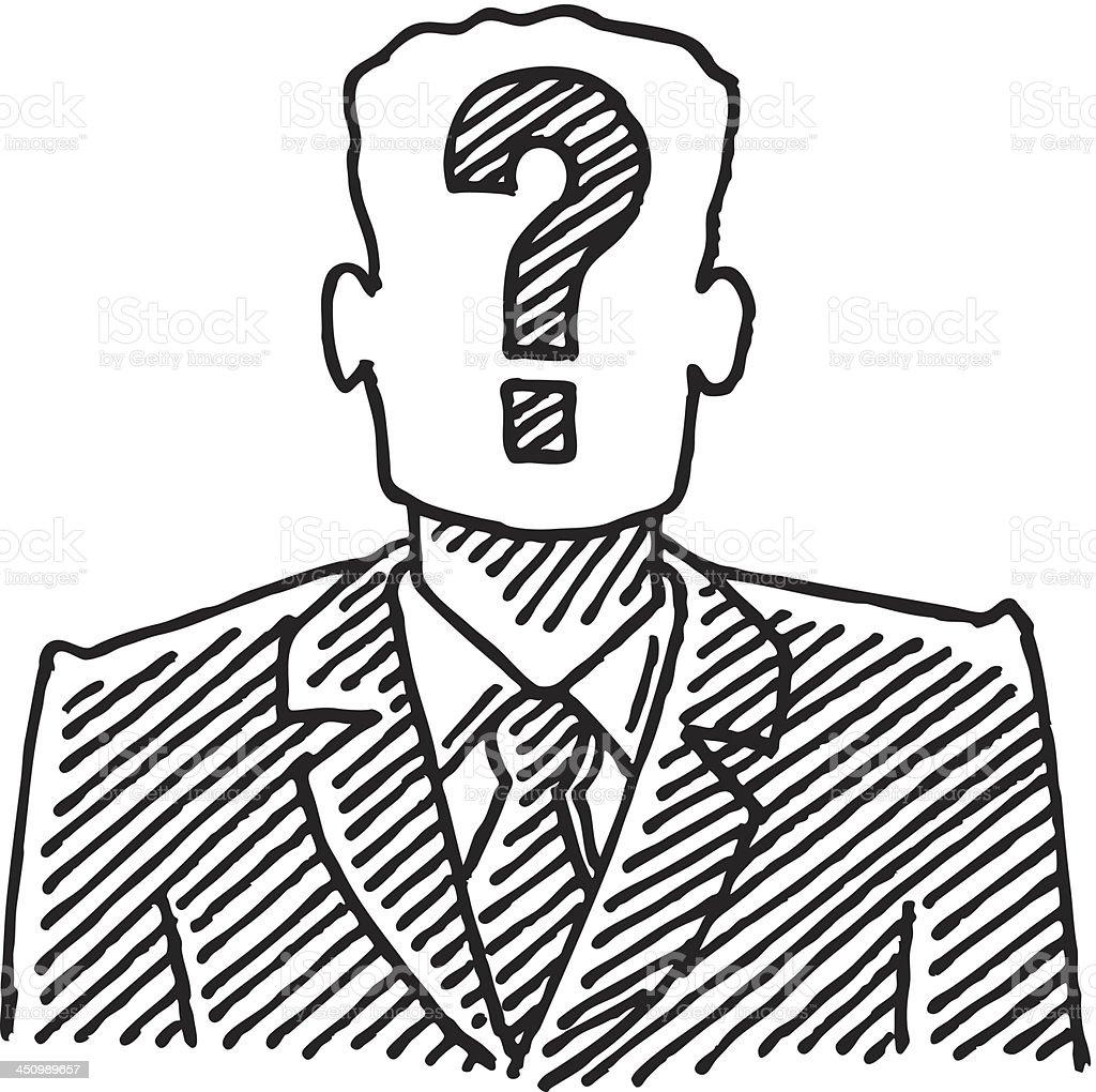 Line Drawing Question Mark : 사업가 물음표 그림이요 검색에 대한 스톡 벡터 아트 및 기타 이미지 istock
