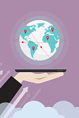 Arrow Symbol, Business, Business Finance and Industry, Direction, Globe - Navigational Equipment