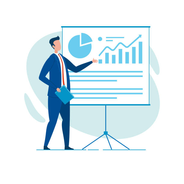 Businessman, Reporting with Diagrams and Charts