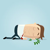 businessman resting on his laurels