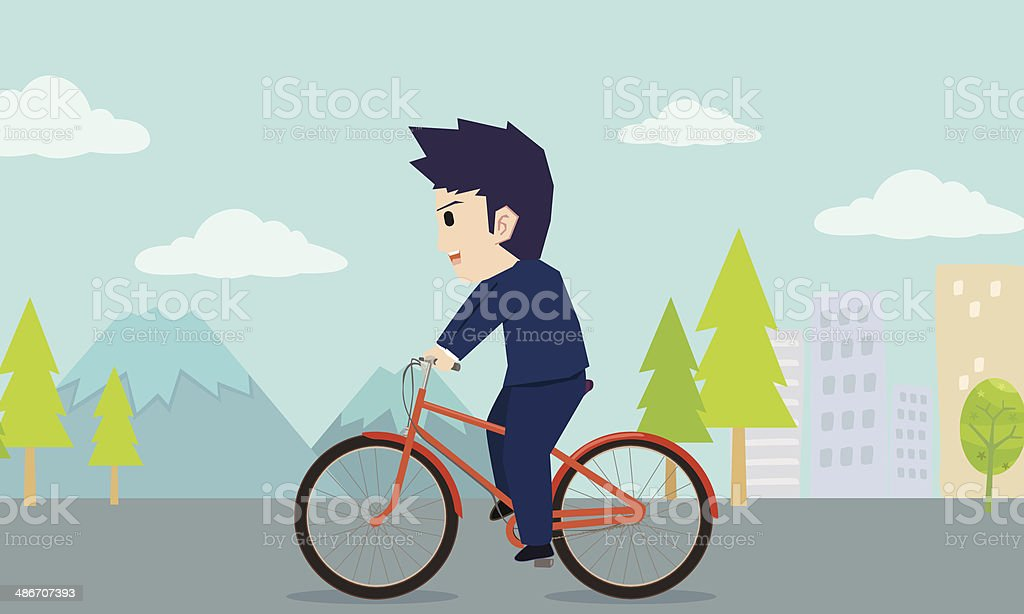 Businessman riding a bicycle royalty-free businessman riding a bicycle stock vector art & more images of activity