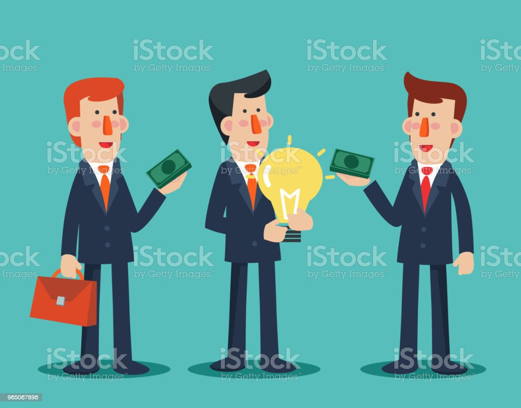 Businessman sells his ideas businessman sells his ideas - stockowe grafiki wektorowe i więcej obrazów biuro royalty-free