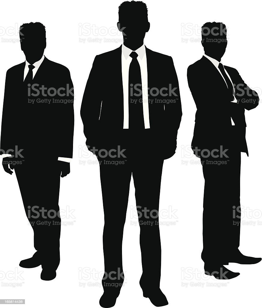 Businessman silhouette trio royalty-free businessman silhouette trio stock vector art & more images of adult